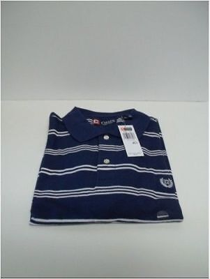 Big And Tall Cotton Rugby ( Chaps Men's XLT Polo Rugby Navy Blue Striped Big and Tall 100%)