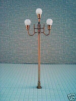 S140 - 5 Stück Straßenlampen nostalgisch 3-flammig 7,7cm Parkleuchten