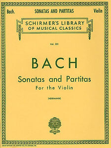 Bach Sonatas & Partitas For The Violin Learn to Play Classical Music Book