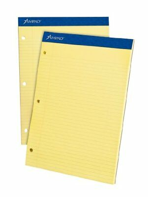 Ampad Double Sheet College-ruled Writing Pad - 100 Sheet - 15 Lb - Ruled - 8.50