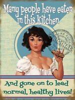 Molti People Have Eaten In Questo Da Cucina Vintage Retrò Novità -  - ebay.it