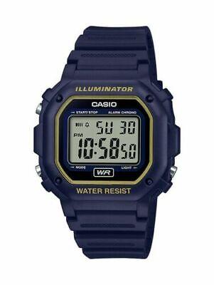 Casio F108WH-2A2 Men's Digital Illuminator Sport Watch Timer  Navy Resin