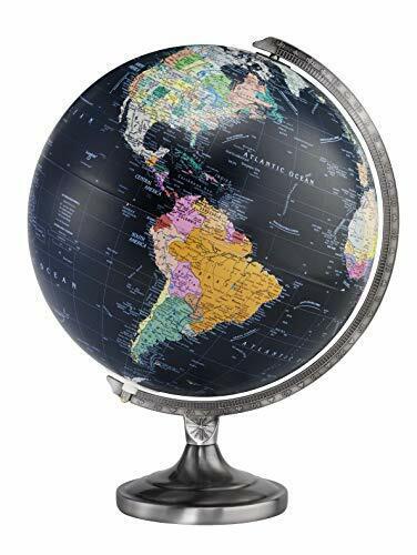 Replogle Orion Illuminated Desktop Globe, Black