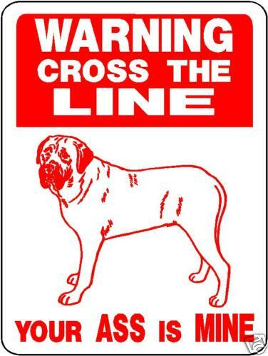 MASTIFF,  GUARD DOG Aluminum Sign Decal d825m