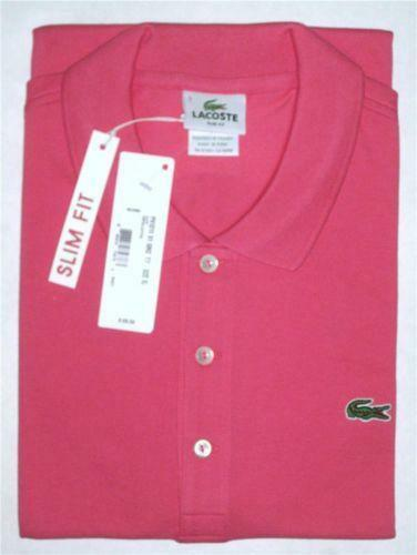 Lacoste polo shirt slim fit ebay for Lacoste polo shirts ebay