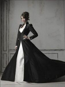 Schwarz Weiß Brautkleider Gothic Hochzeitskleid Ballkleid ...