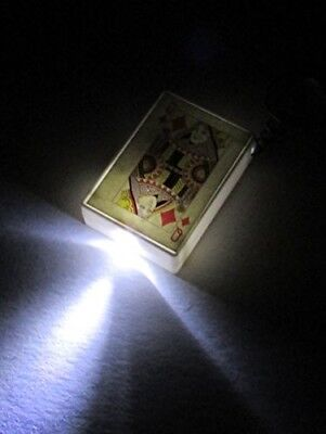 POKER Playing Cards LED Flashlight KEY CHAIN Ring Keychain - Led Playing Cards