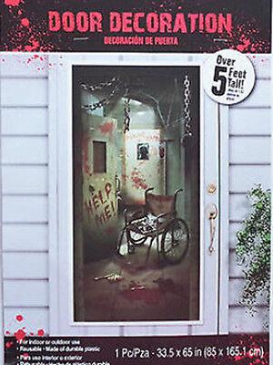Asylum Halloween Party (HALLOWEEN party Scene Setter ASYLUM wall door poster decor psycho ward 5')