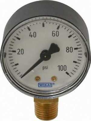 Lot Of 15 Wika 4252943 111.10 2 Pressure Gauge 100psi Lower Mount 14npt Nib