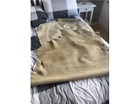 Large Lederfabrik VOGL Beige/Cream whole leather hide 2.6m