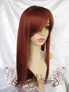 Long Straight Red Brown Wig