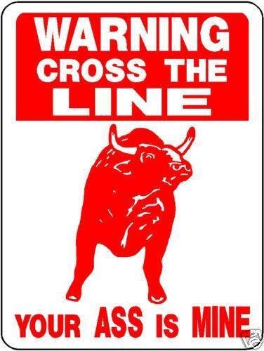 BULL,  FARM, COWS , WARNING, Aluminum Sign Decal 3376