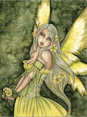 PRIMROSE Large Fairy Art Print Amy Brown 11X17 faery faerie