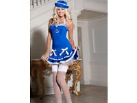 Blue Sailor Fancy Dress Outfit - Size 14