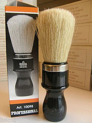 - OMEGA #4P Shave Mug Soap Brush - Boar Hair Plastic Handle