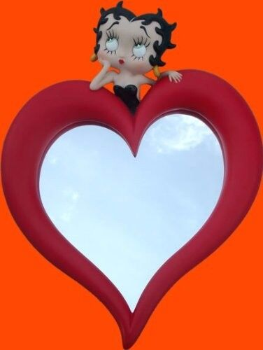 Gorgeous red heart shaped Betty Boop Mirror