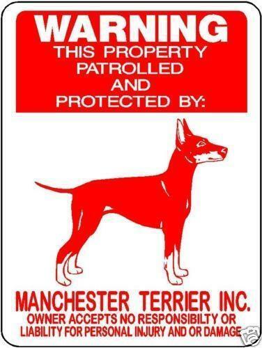 """0546 Manchester Terrier 12""""x18"""" Aluminum Sign"""