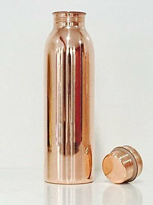 Copper Stylish Bottles Joint Free with Ayurvedic benefited 100% pure & Leak Free
