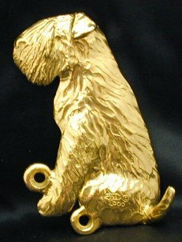 SOFT COATED WHEATEN TERRIER Hook in Bronze