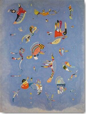 Kandinsky Kunst Poster (Wassily KANDINSKY - Himmelblau 60x80 Kunstdruck Poster Plakat Bild)