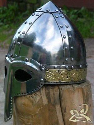 Antique Combat Medieval helmet norman and brass stamping Helemt - Viking Helemt