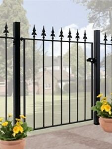 WROUGHT-IRON-METAL-GARDEN-SIDE-GATE-Roman-2ft6-3ft4
