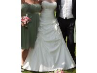 Ellis Bridal 11091 Ivory Taffeta A-line Wedding Dress Size 10/12 inc underskirt