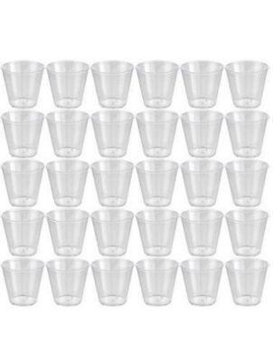 150 SHOT CUPS ~ ~ ~ Plastic clear party wedding pot jelly dessert - Plastic Party Glasses Wholesale
