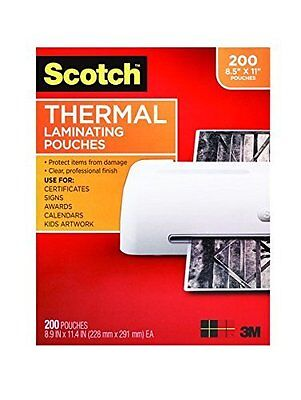 Scotch Thermal Laminating Pouches 8.9 X 11.4 Inches 3 Mil 200-pack