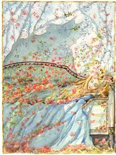 Sleeping Beauty in Blue Maj Fagerberg Postcard Sweden