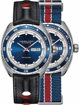 Hamilton H35405741 Men's Automatic Pan-Europ Navy Blue Dial Day/Date Watch