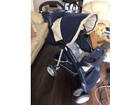 Graco Sterling -3 in 1 Travel System- Pushchair pram with Rain cover, car seat carrier