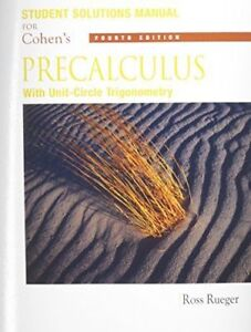 Student Solutions Manual for Cohen's Precalculus