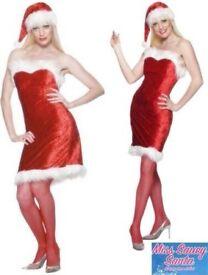 Christmas Costume Miss Sexy Santa