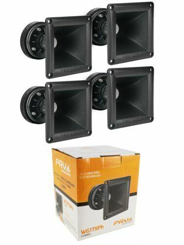 4x PRV Car Audio WG175Ph 150W 8-Ohms Tweeter / Horn Driver DT175Ph-S and WG11-25