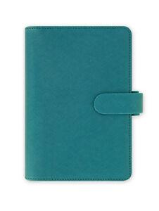 Filofax Saffiano Aquamarine Blue Compact Size Personal Organiser Diary 022528
