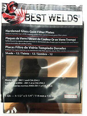 Best Welds 932-458-12 Bw-fs-3h-12 4x5 Gold Filter Plate
