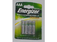 BNIP ENERGIZER 1000 mAh NiMH ACCU RECHARGEABLE AAA BATTERY 1 Pack HEAVY FREQUENT