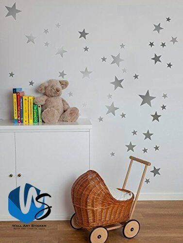 Home Decoration - Various size Stars Wall Stickers Kid Decal Art Nursery Bedroom Vinyl Decoration