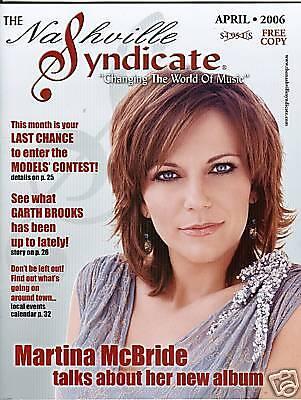 Martina McBride Nashville Syndicate magazine NEW MINT
