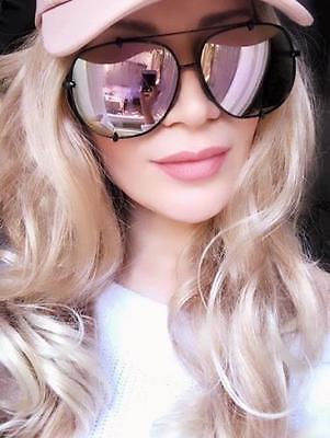 Oversized Large Square Big Metal Tolon Mirror Aviator Fashion Sunglasses 1523 L ()