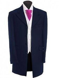 de-ceremonia-espiga-PR-NCIPE-EDWARD-Negro-Corbata-Evento-Chaqueta-en-azul-marino