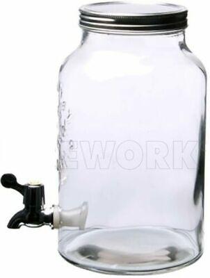 BOTE TARRO de cristal con grifo. Capacidad 5,5 l.