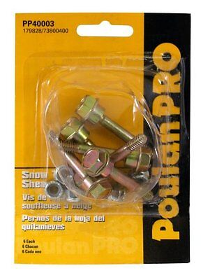 Poulan Pro Pp40003 6-pack Of Snow Thrower Sheer Pins Bolts