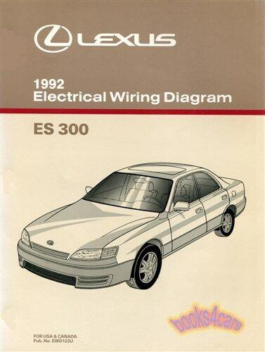 Es300 1992 Lexus Shop Manual Electrical Wiring Diagram Schematic Service Repair