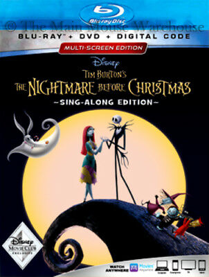 Disney Halloween Movie The Nightmare Before Christmas Blu-ray DVD & Digital Copy (Disney Movies Halloween)