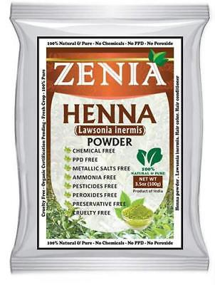 Fresh Henna - 2018 CROP 500g ZENIA Henna Mehendi Powder Body Art Quality Fresh No Chemicals