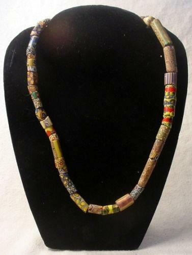 African Trade Bead Necklace Ebay