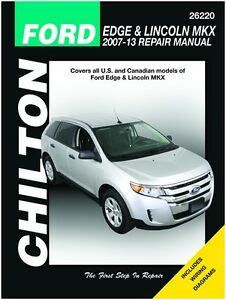 Ford edge & lincoln mkx online service manual, 2007-2014.