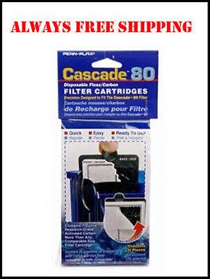 CASCADE 80 AQUARIUM POWER FILTER CARTRIDGES 3PK